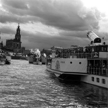 Parník Vltava na Dampfschiffestu v Drážďanech