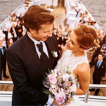 Nezapomenutelný svatební den na lodi