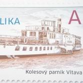 Parník Vltava na poštovní známce