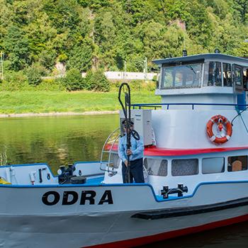 Prezentace lodi Odra a nové plavby v Děčíně