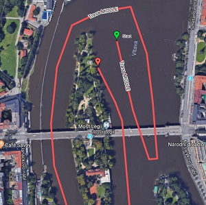 Ve dnech 26. a 27. července dojde ke změnám v trase plaveb z Rašínova nábřeží