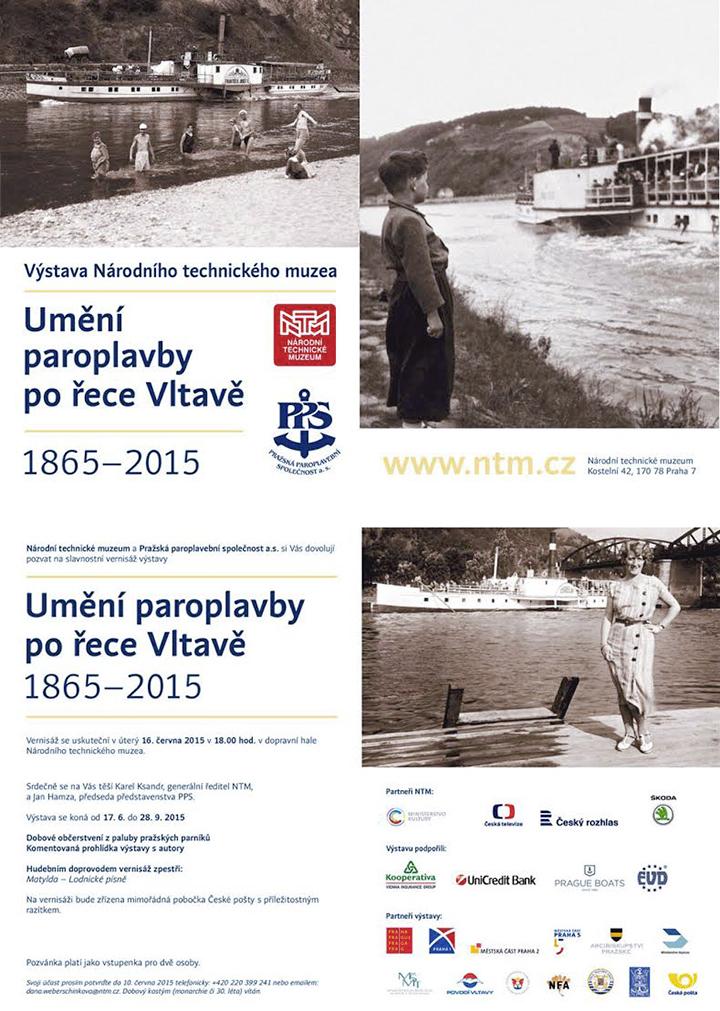 Výstava Umění paroplavby po řece Vltavě již brzy